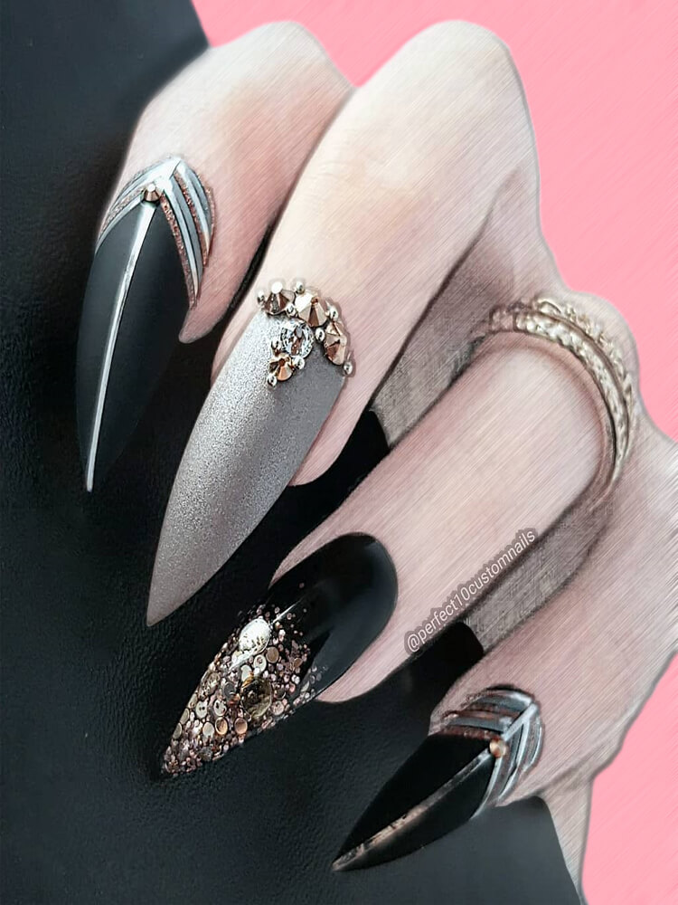19 Stiletto nails Designs to try in 2019 Summer