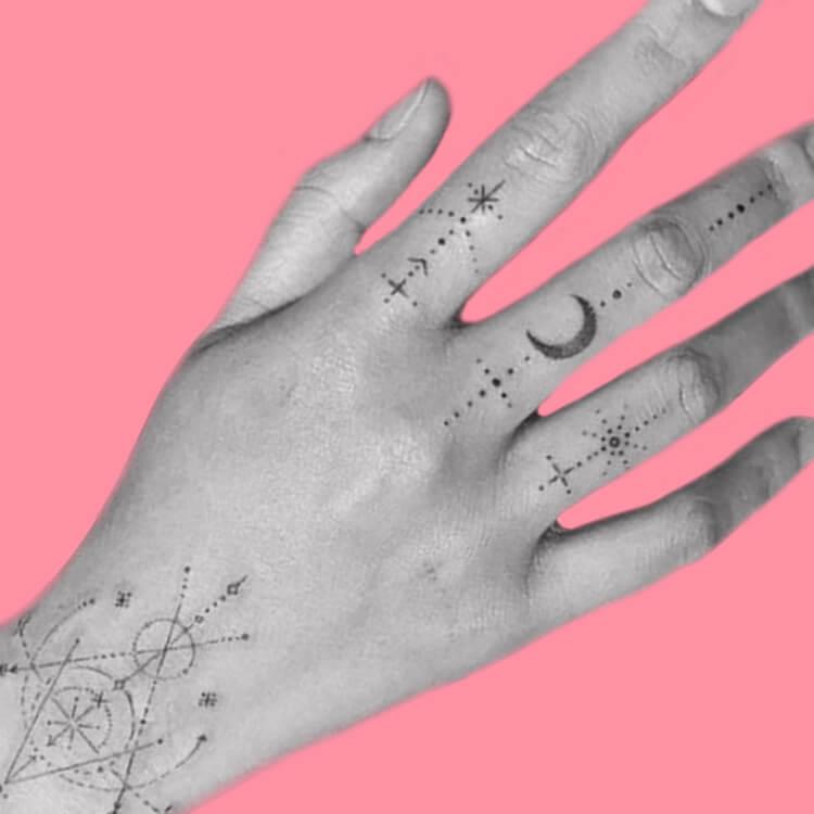 27+ Mini Finger Tattoos For Women Beauty 2019 Trend 20