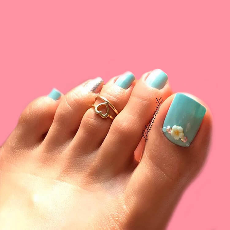 50+ Pretty Toe Nail Design You Should Try In This Summer 13