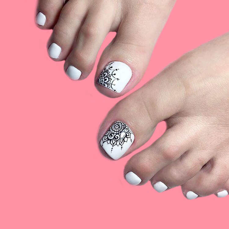 50+ Pretty Toe Nail Design You Should Try In This Summer 17