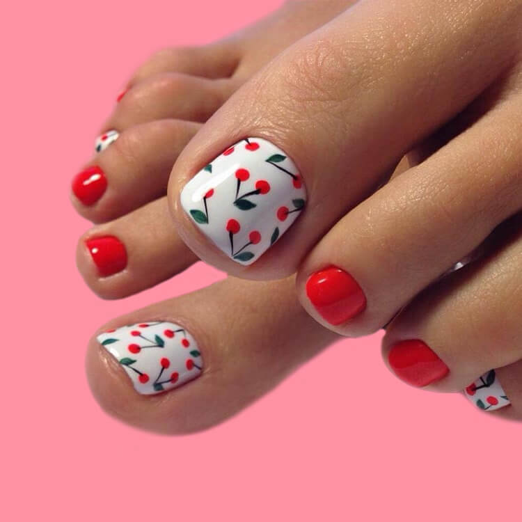 50+ Pretty Toe Nail Design You Should Try In This Summer 18