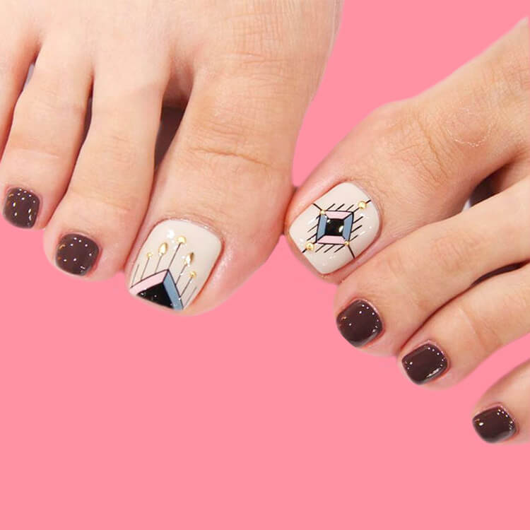 50+ Pretty Toe Nail Design You Should Try In This Summer 19