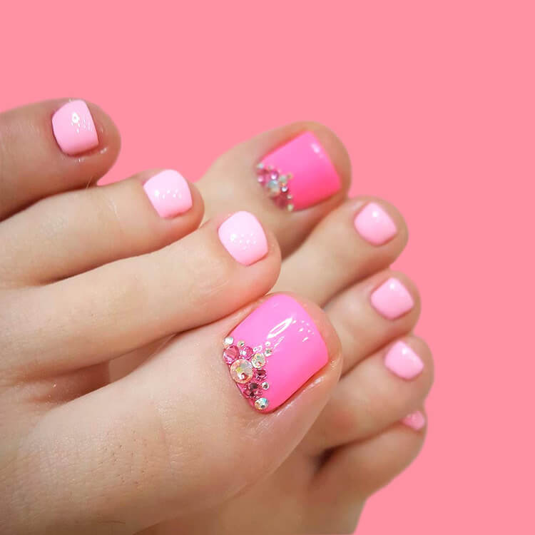 50+ Pretty Toe Nail Design You Should Try In This Summer 20