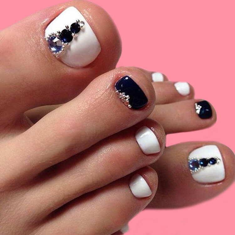 50+ Pretty Toe Nail Design You Should Try In This Summer 24