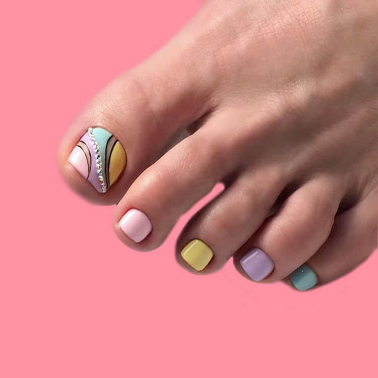 50+ Pretty Toe Nail Design You Should Try In This Summer 29