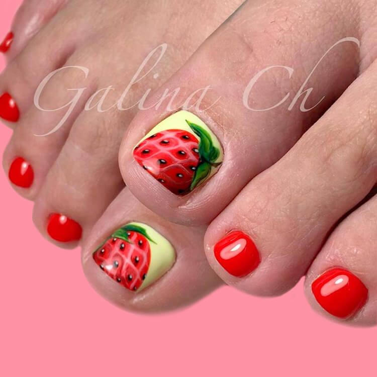 50+ Pretty Toe Nail Design You Should Try In This Summer 32
