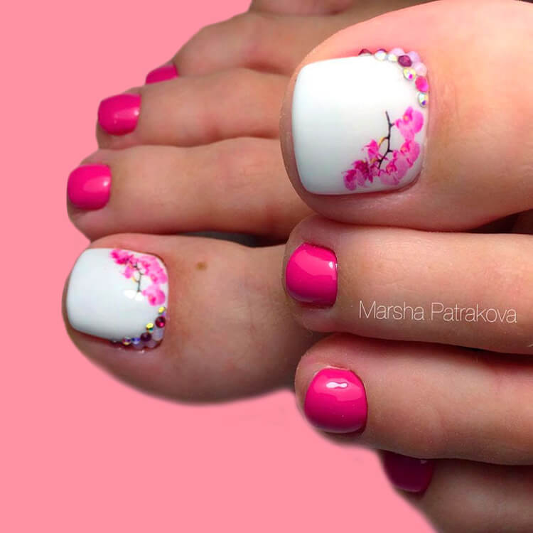 50+ Pretty Toe Nail Design You Should Try In This Summer 36