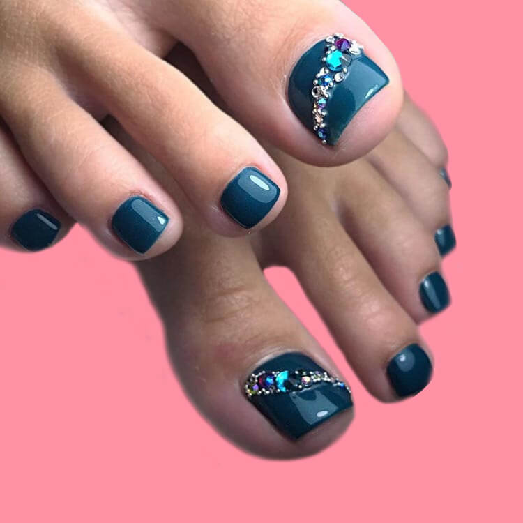 50+ Pretty Toe Nail Design You Should Try In This Summer 39