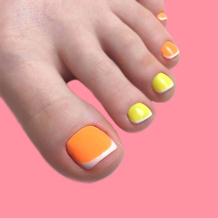 50+ Pretty Toe Nail Design You Should Try In This Summer 43