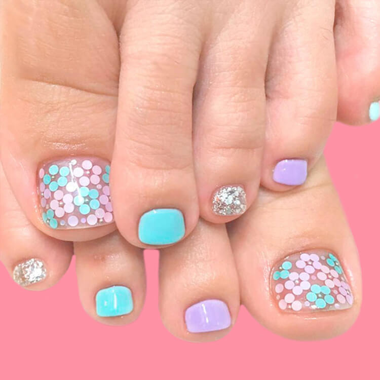 50+ Pretty Toe Nail Design You Should Try In This Summer 44