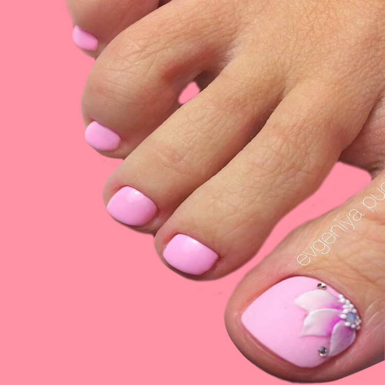 50+ Pretty Toe Nail Design You Should Try In This Summer 45
