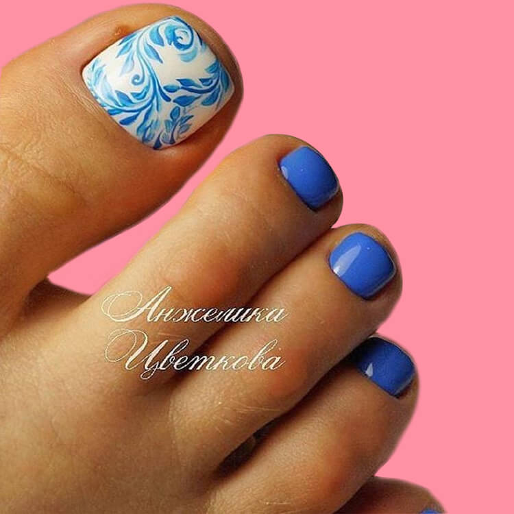 50+ Pretty Toe Nail Design You Should Try In This Summer 46