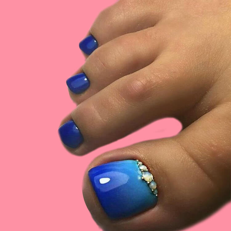 50+ Pretty Toe Nail Design You Should Try In This Summer 47