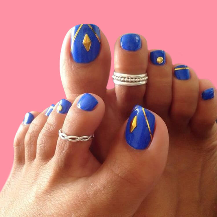 50+ Pretty Toe Nail Design You Should Try In This Summer 5