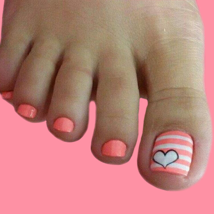 50+ Pretty Toe Nail Design You Should Try In This Summer 7