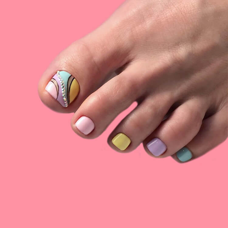 50+ Pretty Toe Nail Design You Should Try In This Summer 9