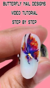 Butterfly Nail Designs Video Tutorial Step By Step