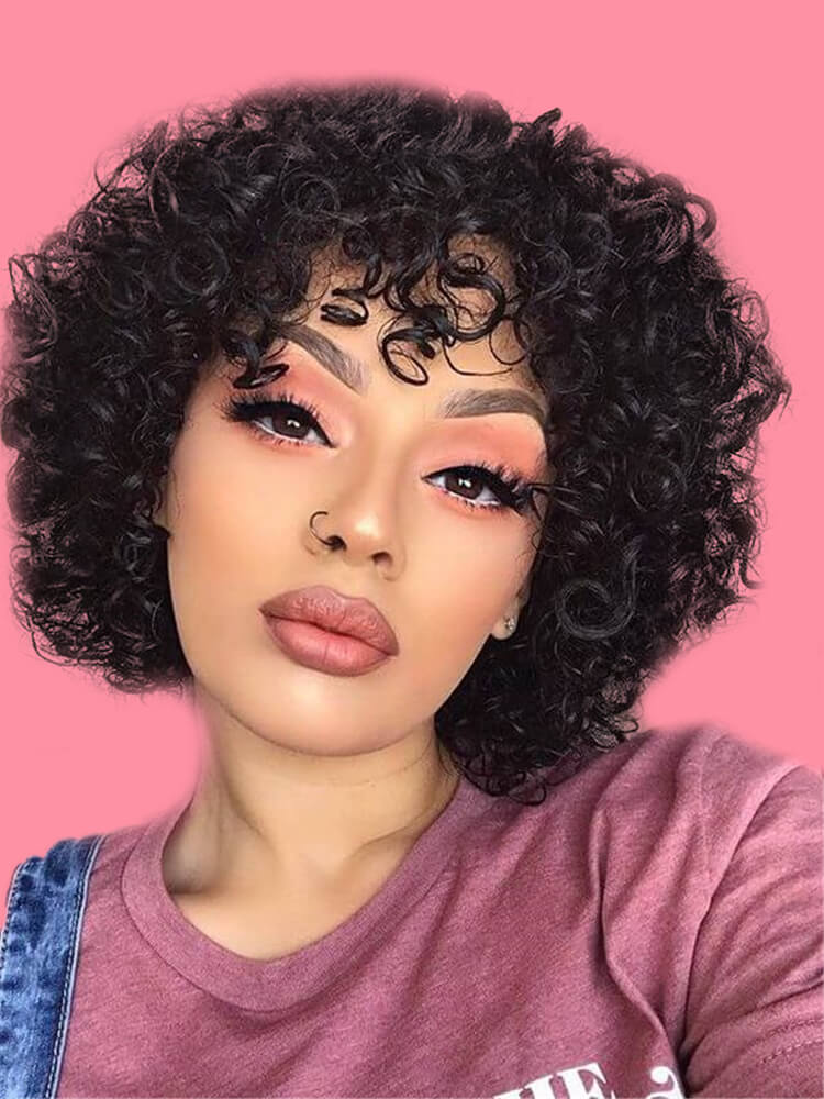 11 Attractive Short Curly Thick Hairstyles Trend in this Summer 10