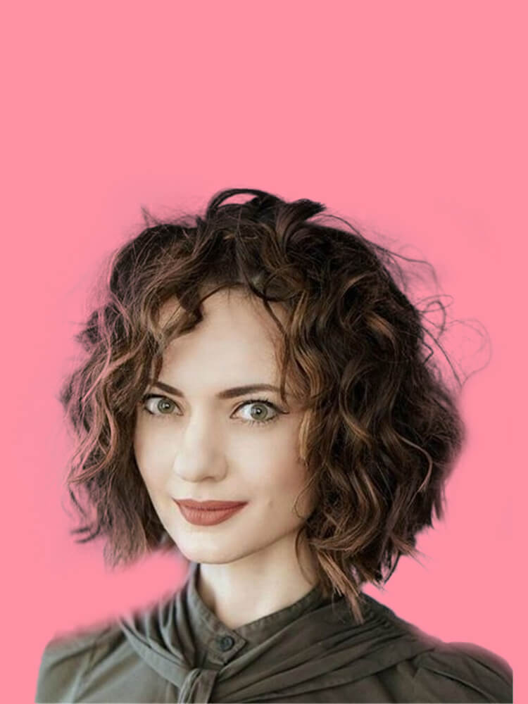 11 Attractive Short Curly Thick Hairstyles Trend in this Summer 11