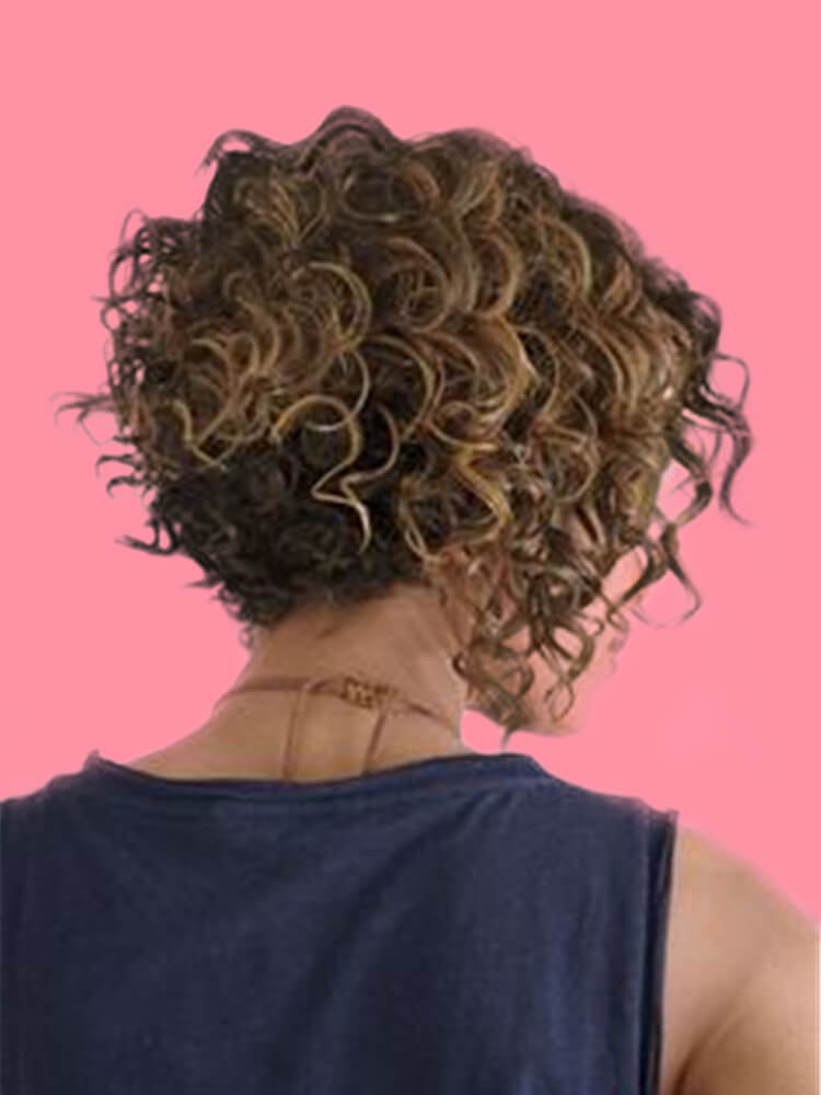11 Attractive Short Curly Thick Hairstyles Trend in this Summer 7