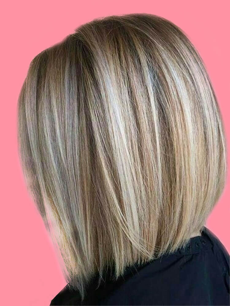 17+ Attractive Straight Medium Length Hairstyles Ideas for Lady's Beauty 15