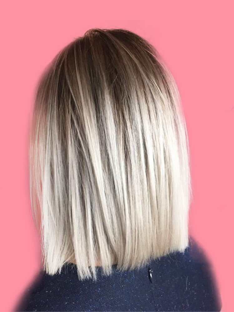17+ Attractive Straight Medium Length Hairstyles Ideas for Lady's Beauty 9