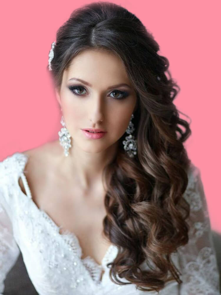 23 + Stunning Wedding Makeups and Hairstyles for Bride to try 21