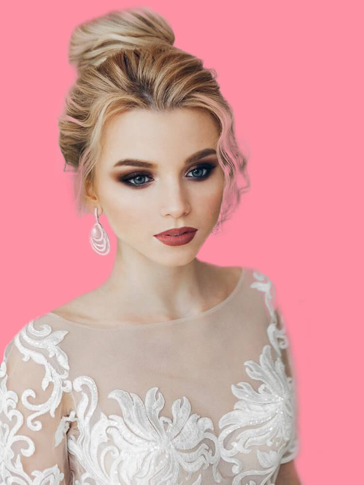 23 + Stunning Wedding Makeups and Hairstyles for Bride to try 3