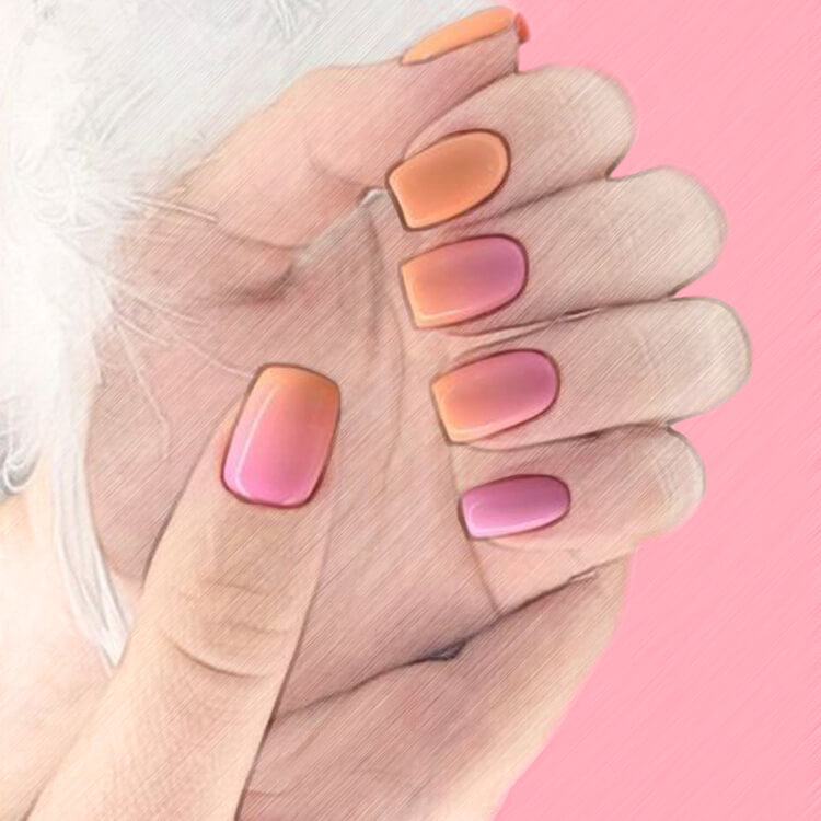 23+ Sweet Candy Color Nail Art Designs for Ladies 14
