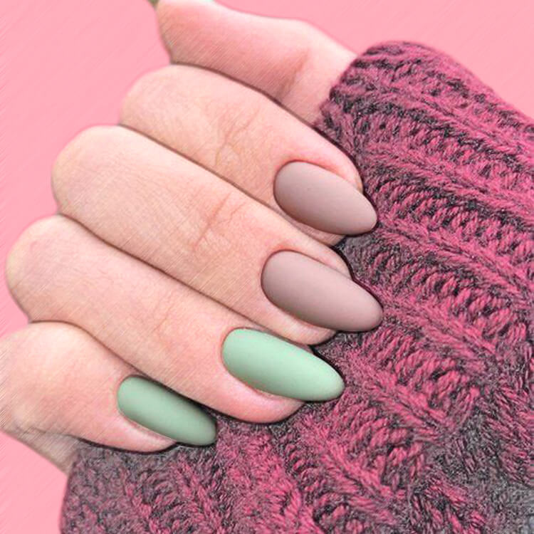 23+ Sweet Candy Color Nail Art Designs for Ladies 16