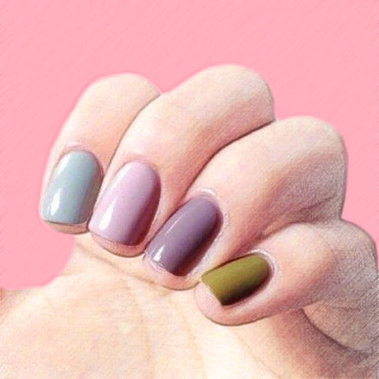 23+ Sweet Candy Color Nail Art Designs for Ladies 18