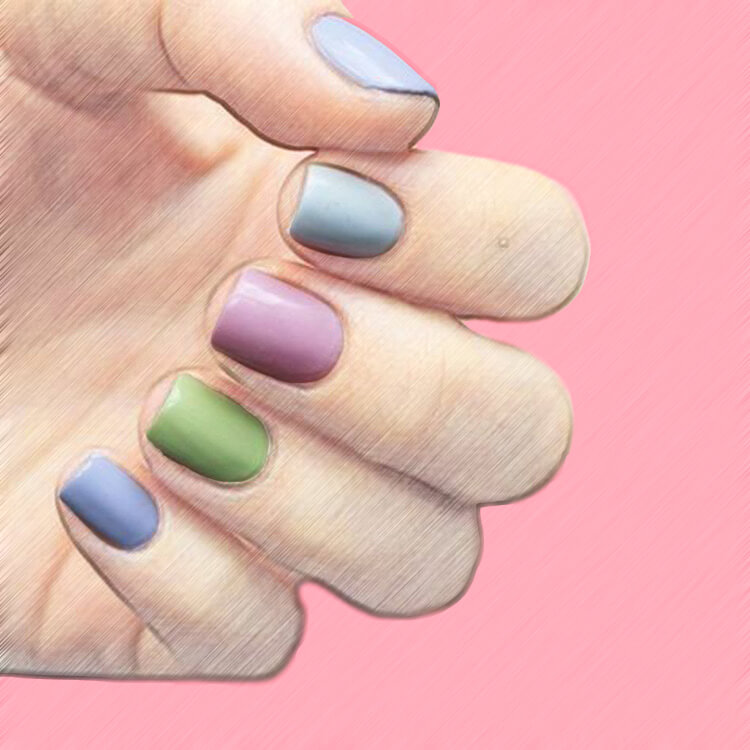 23+ Sweet Candy Color Nail Art Designs for Ladies 21