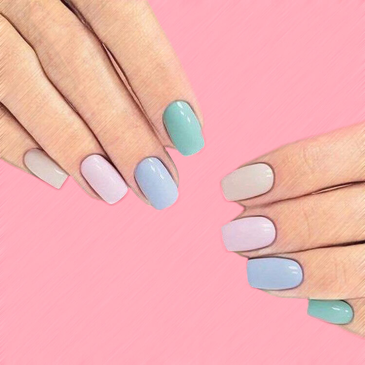 23+ Sweet Candy Color Nail Art Designs for Ladies 23