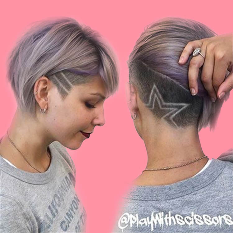 30+ Attractive Chic Undercut Hairstyles Designs to try this Summer 30