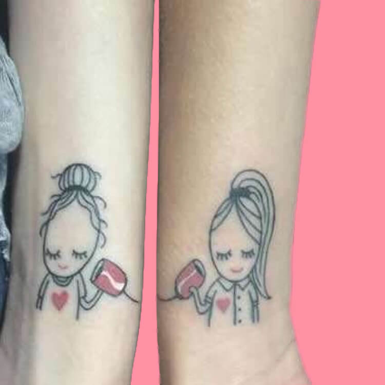 30+ Meaningful Matching Tattoos Designs to Try for Ladies and Sisters 22