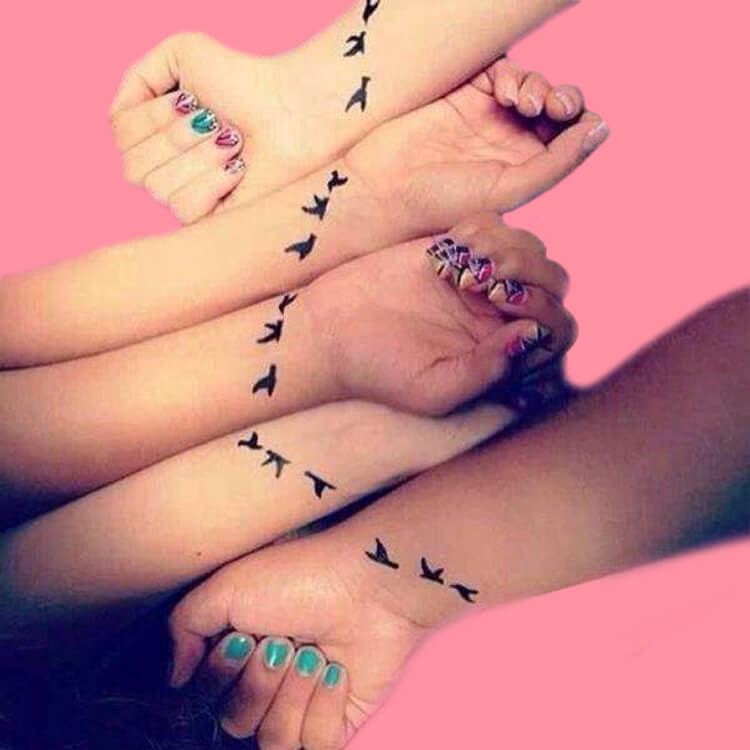 30+ Meaningful Matching Tattoos Designs to Try for Ladies and Sisters 25