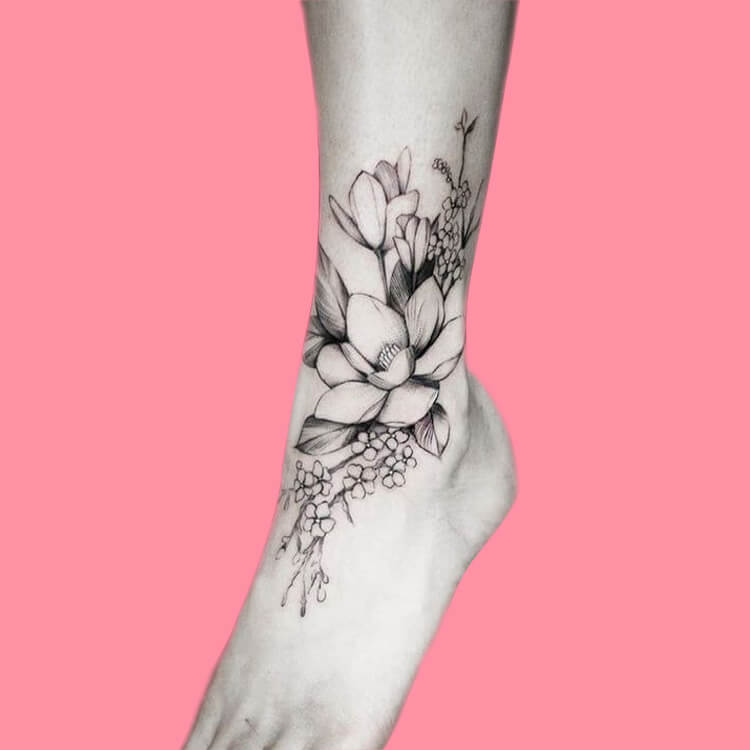 44+ Wonderful Foot Tattoos to try on foot and ankle 2019 Summer 14
