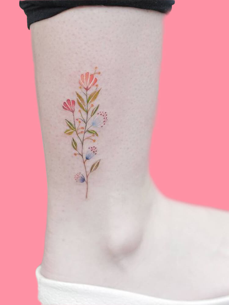 44+ Wonderful Foot Tattoos to try on foot and ankle 2019 Summer 25