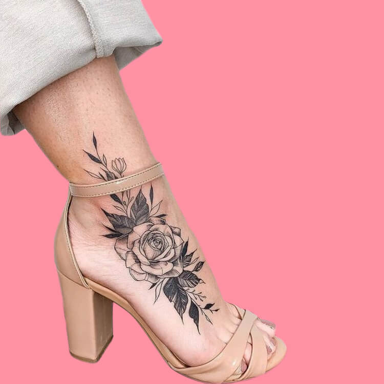 44+ Wonderful Foot Tattoos to try on foot and ankle 2019 Summer 42