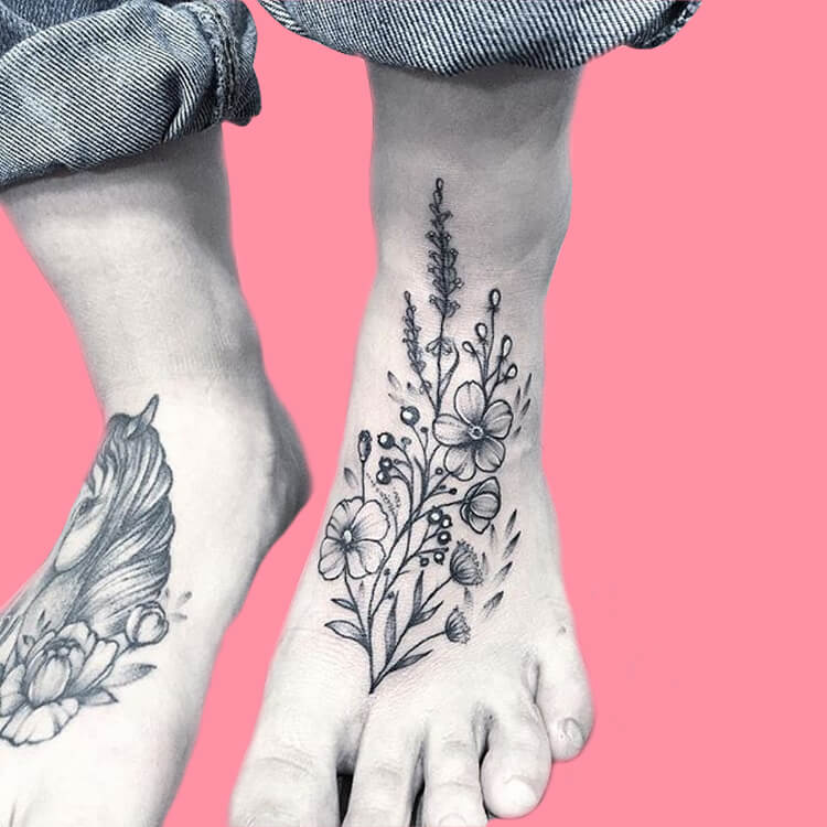 44+ Wonderful Foot Tattoos to try on foot and ankle 2019 Summer 9