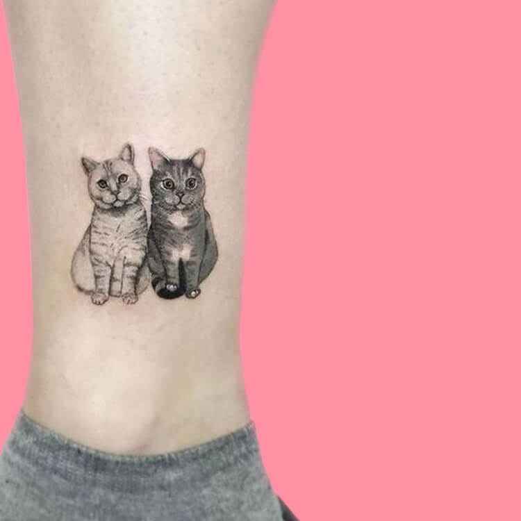 54 Cutest Cat Tattoo Designs to try 2