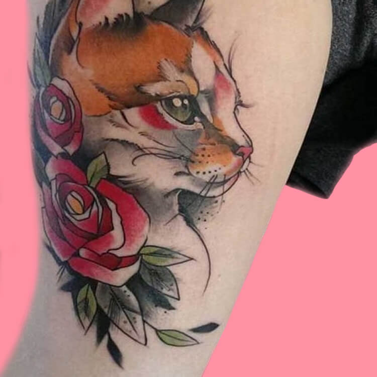 54 Cutest Cat Tattoo Designs to try 24