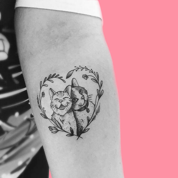 54 Cutest Cat Tattoo Designs to try 35
