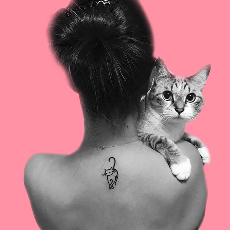54 Cutest Cat Tattoo Designs to try 37