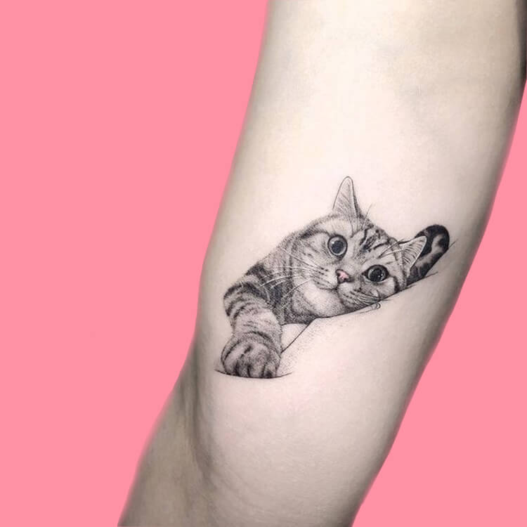 54 Cutest Cat Tattoo Designs to try 40