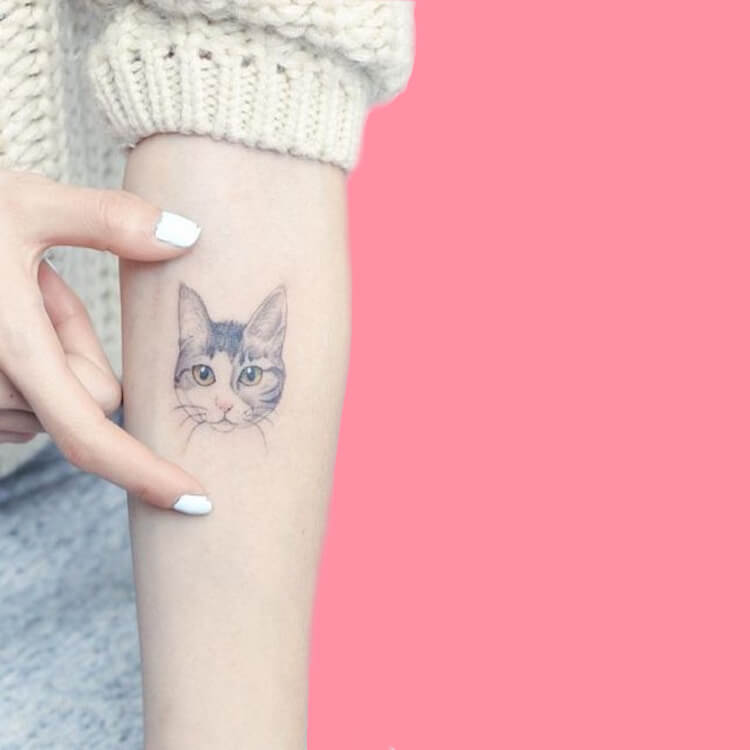 54 Cutest Cat Tattoo Designs to try 49