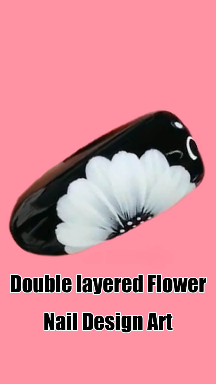 10 Step by Step Double Layered Flower Nail Art Ideas 1