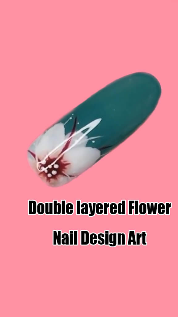 10 Step by Step Double Layered Flower Nail Art Ideas 10