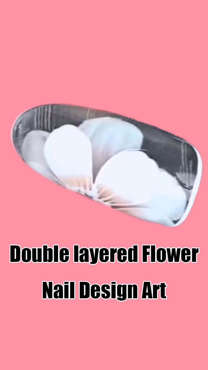 10 Step by Step Double Layered Flower Nail Art Ideas 2