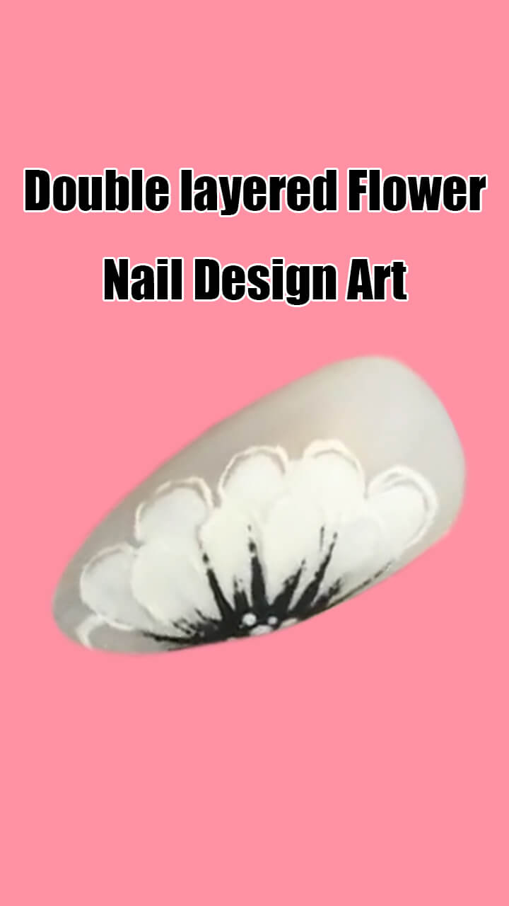 10 Step by Step Double Layered Flower Nail Art Ideas 3